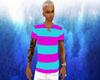 shirt pink blue