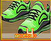 ! Green Soles On Fire F