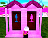 Pink 2 Toilet Out House