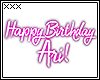 [X] Ari Birthday Sign.