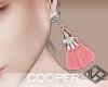 !A long earrings pink