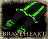 (DBH) black/green pants