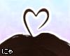 N' Brown Heart Ahoge