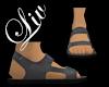 Suede Sandals - Grey