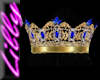 Gold sapphire crown
