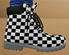 Checkered Work Boots 1 M