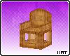[K] Arched Wooden Chair