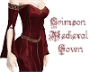 Crimson Medieval Gown