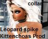 leopard spike collar