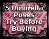 ~MN~ 5 Umbrella Poses