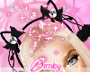 Fur Bell Cat Ears Black