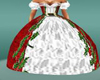 fancy red christmas gown