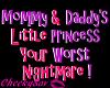 !Cs Cute Kids Head Sign