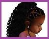 Kids braids purple beads