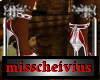 red white heels
