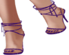 Strappy heels purple
