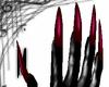 Long maroon nails