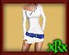 Tight White Dress w/Blue
