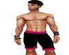 Hot Pink & Black Shorts