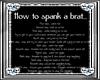 ~D~ How to spank a brat