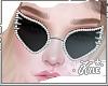 Black Studded Glasses |F