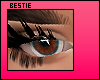 b. Acuvue eyes, brown.