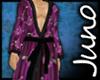 Juno Silk Kimono Purple