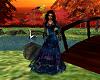 blue & purple lace gown