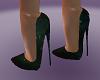 Forest green heels