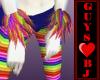 Rainbow fur cuffs