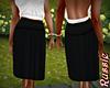 Russie Black Pleat Skirt