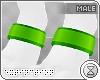 . paw cuffs | green