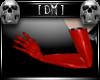 [DM] Long PVC Gloves Red