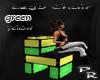 Lego chair greeen/yello