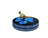 EP~Electric Blue Paw Bed
