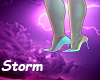Rainbow heels