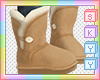 Kids Tan Winter Boots