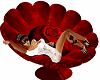 red rose flower chair