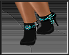 Teal Beaded Boot