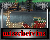 christmas lighted sleigh