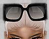 black glasses head