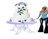 Ice Blue & White cake