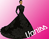 long wedding black dress