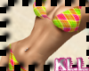 [KLL] Pink Plaid Bikini