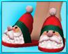 Womens Santa Slippers