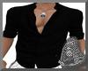 Black Open Shirt M