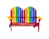 Striped 2-Seat Chair