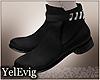[Y] Hernan black boots M