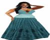 Aqua first gown