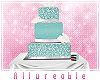 A* Teal 3 Tier Cake